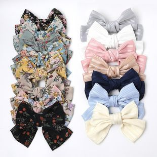 Silk Oversized Butterfly Spring Clip Wild Cloth Knotted Hair Clip Floral Cheap Top Clip Wholesale NHDM206663's discount tags