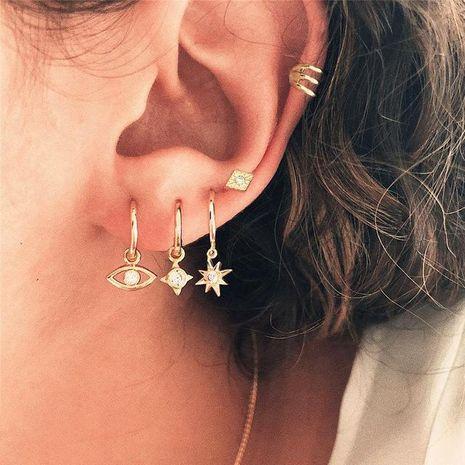 Yeux Starlight Stud boucles d'oreilles Ensemble de 5 boucles d'oreilles créatives de style rétro punk pour les femmes en gros NHPJ206672's discount tags