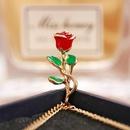 New Fashion Rose Pendant Necklace Retro Simple Golden Clavicle Chain Wholesale NHPJ206675
