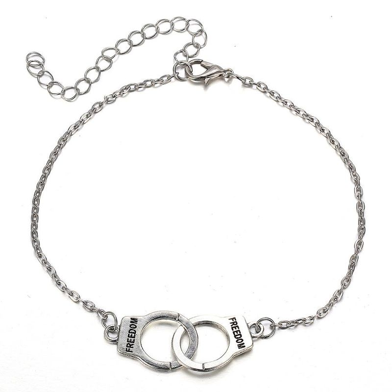 New handcuffs anklet retro simple alloy adjustable anklet NHPJ206689
