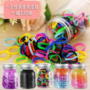 New color canned disposable rubber band retro simple cheap scrunchies wholesale NHPJ206693's discount tags