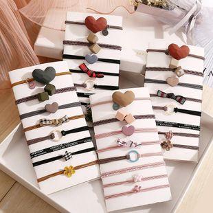 Hanzha hair rubber band cute cheap scrunchies set 8 piece wholesale NHPJ206697's discount tags