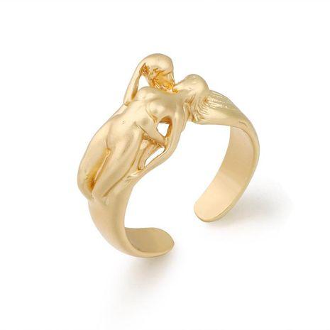 Nouvelle bague de mode créative hommes et femmes pour toujours bague asiatique bague en or en gros NHGO206702's discount tags