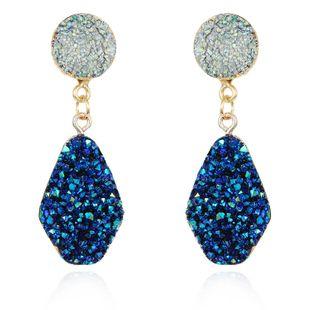 Nuevos pendientes de piedra natural de imitación de moda pendientes largos de color al por mayor NHGO206704's discount tags