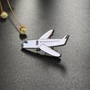 Korean new alloy oil drop airplane brooch skull badge brooch NHGO206705