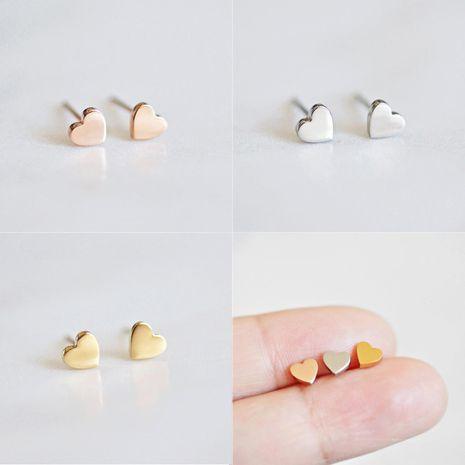 New Earrings Titanium Steel Shiny Heart Shape Stainless Steel Stud Earrings Simple Earrings NHJJ206718's discount tags
