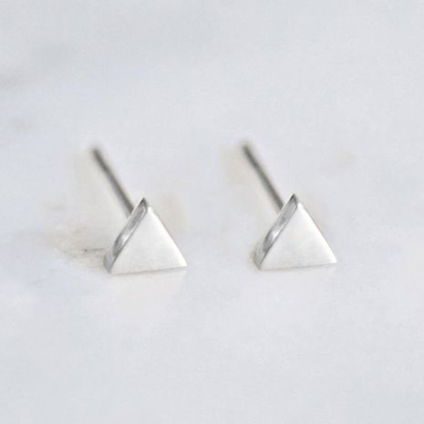 Korean new triangle jewelry simple stainless steel geometric triangle earrings NHJJ206722's discount tags