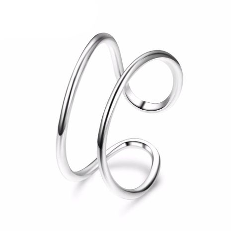 New Stainless Steel Fashion Semicolon Ring Open Bracelet Wholesale NHJJ206723's discount tags