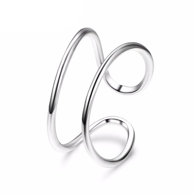 New Stainless Steel Fashion Semicolon Ring Open Bracelet Wholesale NHJJ206723
