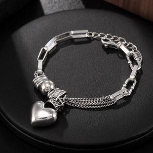 S925 sterling silver bracelet women's love punk silver jewelry wholesale women's bracelet NHUI206770's discount tags