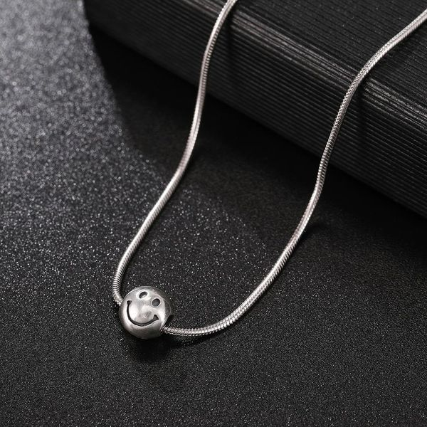 New Fashion 925 Sterling Silver Necklace Female Smile Pendant Necklace Wholesale NHUI206776