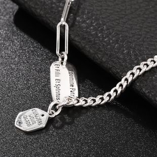New Fashion English Letter Brand Sterling Silver Jewelry 925 Sterling Silver Necklace Wholesale NHUI206778's discount tags