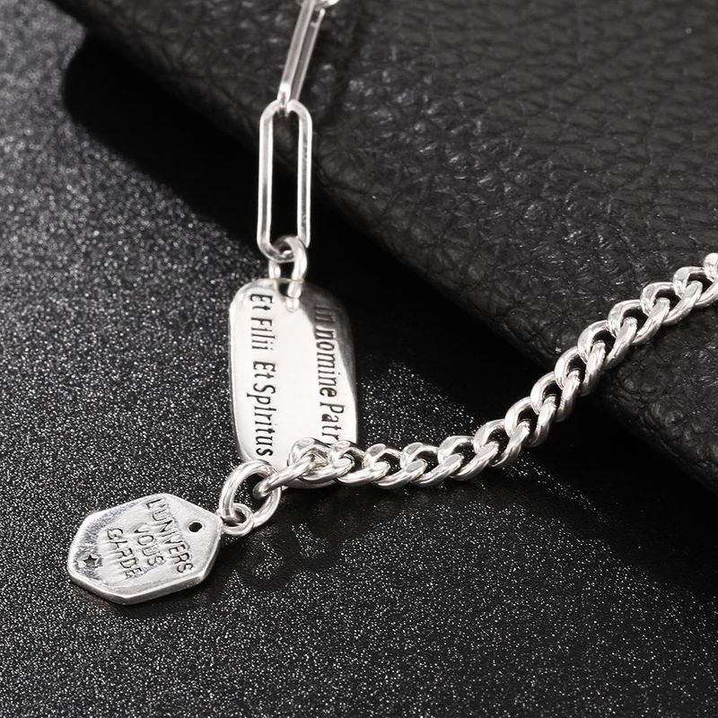 New Fashion English Letter Brand Sterling Silver Jewelry 925 Sterling Silver Necklace Wholesale NHUI206778