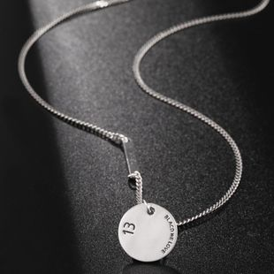 New fashion silver pendant necklace 925 sterling silver necklace women wholesale NHUI206780's discount tags