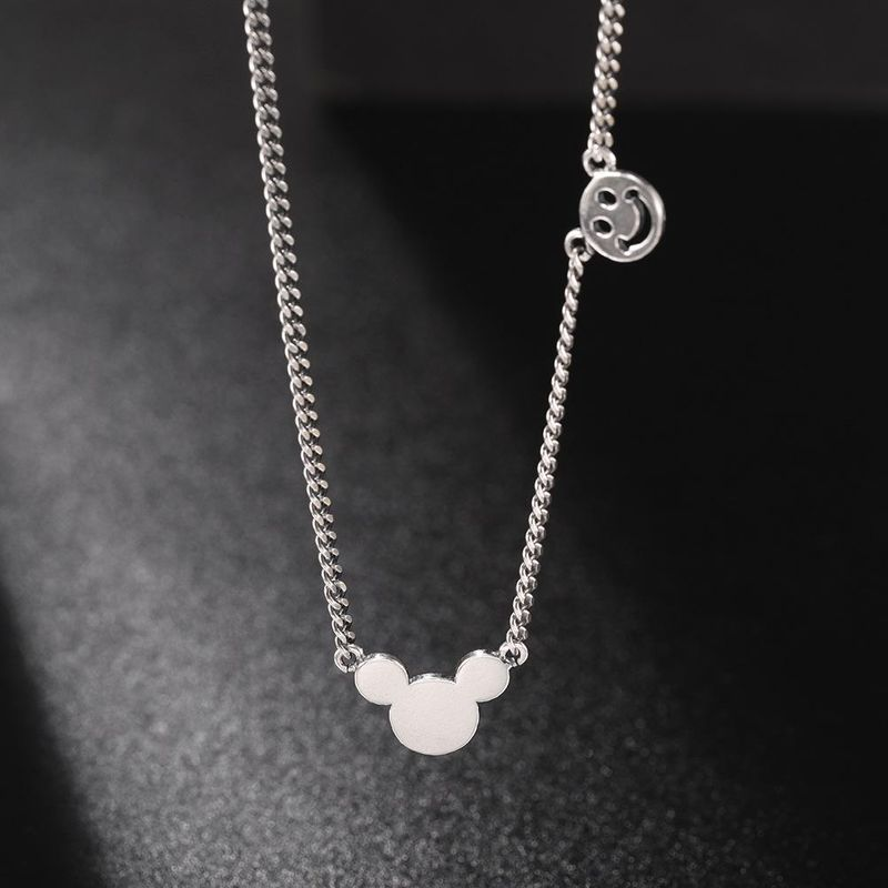 New S925 Sterling Silver Necklace Female Cute Animal Pendant Wholesale NHUI206784