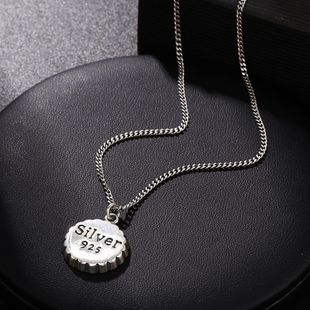 New Fashion Hot Sale 925 Sterling Silver Necklace Female English Pendant NHUI206793's discount tags