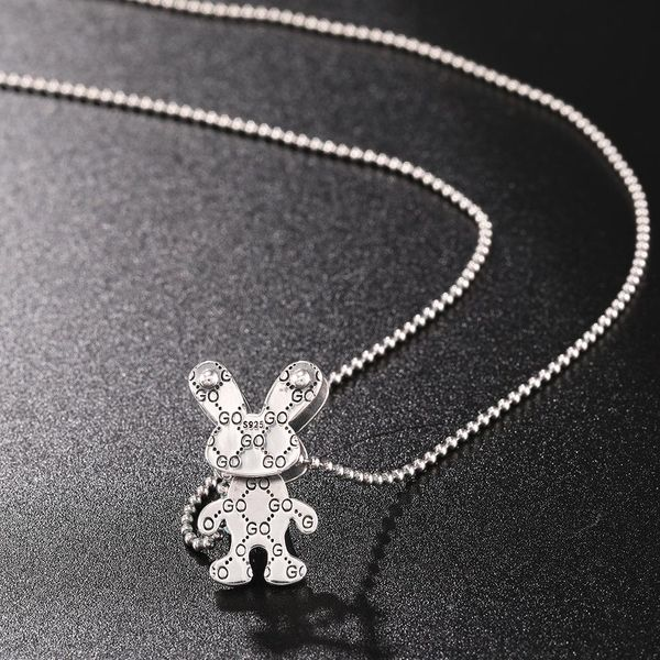 New fashion animal silver jewelry necklace 925 sterling silver necklace women NHUI206796
