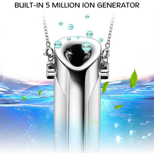 Hot portable negative ion air purifier necklace portable oxygen bar car purifier air purifier NHAT206859's discount tags