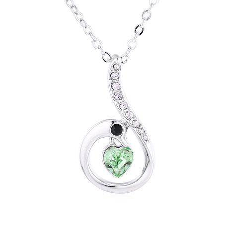 Nouveau collier en cristal de cygne d'amour en gros NHSE206851's discount tags