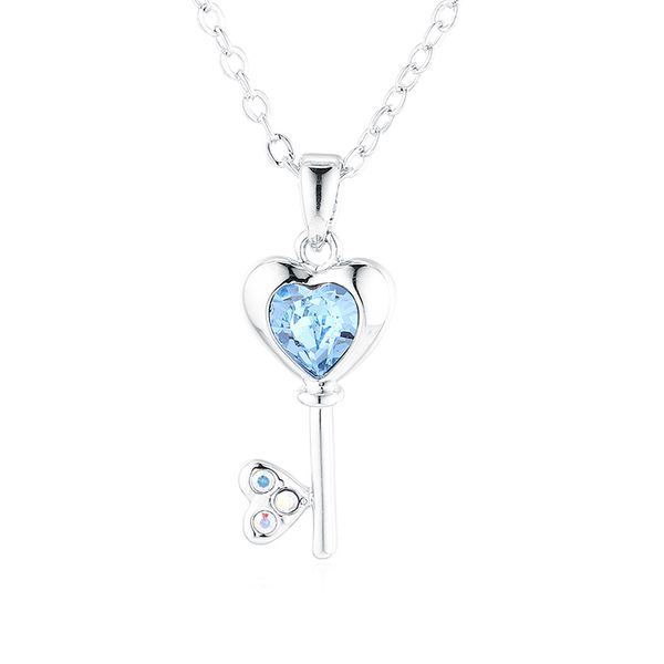 New Simple Crystal Key Necklace NHSE206852