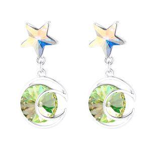 New Star Moon Crystal Earrings Wholesale NHSE206857's discount tags