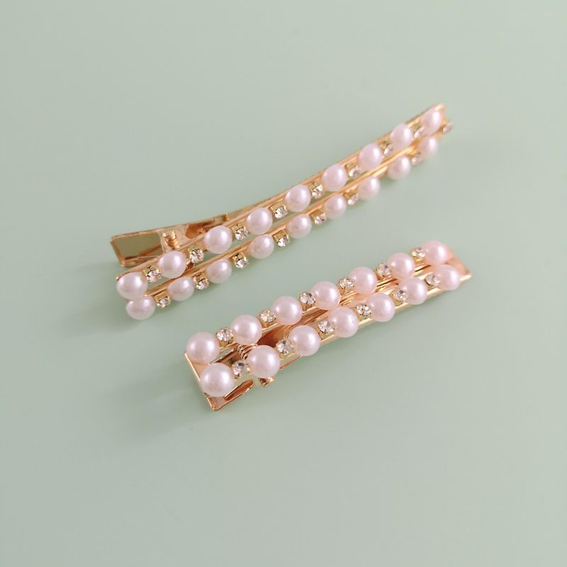 New Pearl Hairpin Variety Duckbill Bowknot Geometric Lady Hairpin Trend Decoration Slotted Hair Accessories NHJJ210485