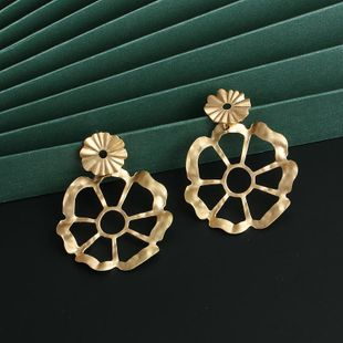 New fashion retro alloy hollow flower earrings for women wholesale NHJJ210487's discount tags