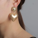 New fashion retro alloy heart earrings for women wholesale NHJJ210497