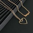 Nueva moda alfabeto ingls collar hueco hueco hueco cadena de clavcula de dos piezas al por mayor NHJJ210500