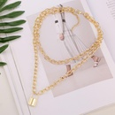 New fashion alloy lock heart necklace necklace pendant twopiece clavicle chain wholesale NHJJ210510