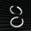 New simple fashion luminous Cshaped acrylic earrings for women wholesale NHJJ210515