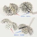 New fashion doublelayer lettering sunflower necklace alloy flowers short neck chain women wholesale NHJJ210524