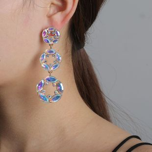 New fashion geometric retro color round earrings for women wholesale NHJJ210537's discount tags
