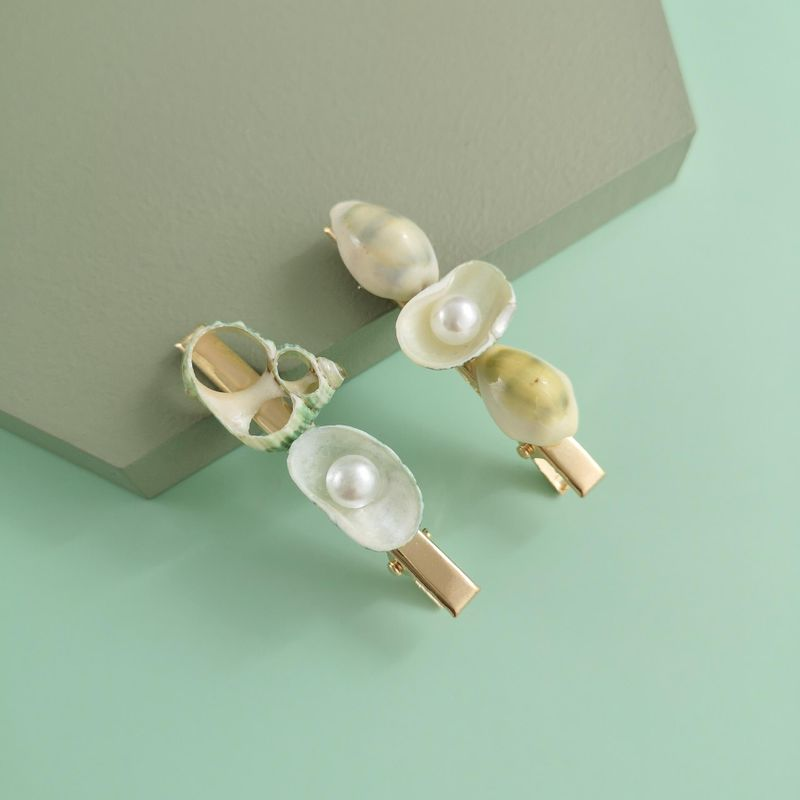 New fashion conch shell pearl cheap hairpin wholesale NHJJ210548
