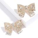 Nouveau mode alliage diamant super flash arc boucles d39oreilles pour les femmes en gros NHJE210551