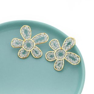 Spring new alloy acrylic flower earrings for women wholesale NHJE210554's discount tags