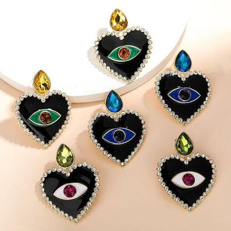 Nouvelle mode amour coeur en forme d'oeil goutte boucles d'oreilles en diamant pour les femmes en gros NHJE210563's discount tags