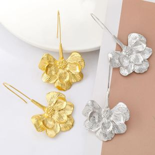 Spring new alloy flower earrings for women wholesale NHJE210569's discount tags