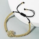 New fashion copper inlaid zircon bracelets brass beads adjustable rainbow bracelet wholesale NHLN210575