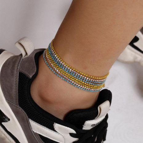 Nouvelle mode micro-ensemble couleur diamant chaussures enroulement multicouche costume hit couleur zircon cheville pour femmes en gros NHXR210589's discount tags