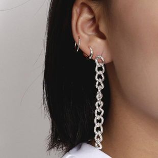 New fashion ring mix and match set earrings simple chain tassel long punk earrings NHXR210599's discount tags