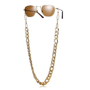 New fashion U-shaped cold wind neutral accessories punk metal chain geometric glasses chain wholesale NHXR210606's discount tags