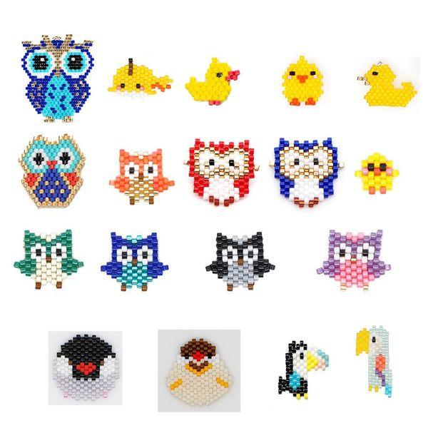 New fashion Miyuki Mizhu hand-woven ladies accessories bird wholesale NHGW210648