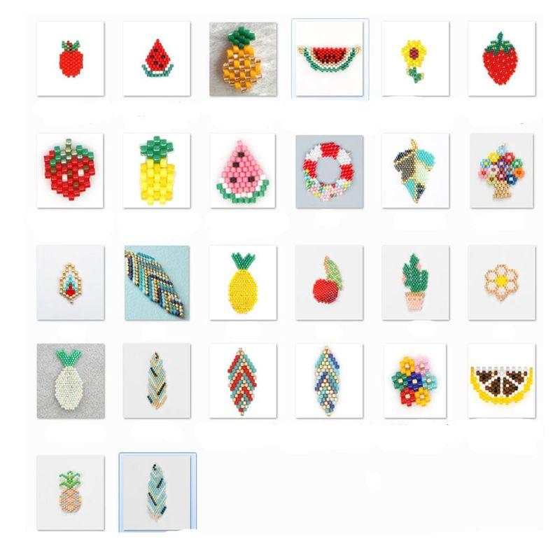 Nouvelle mode Miyuki Mizhu accessoires de plantes de fruits tisss  la main en gros NHGW210656