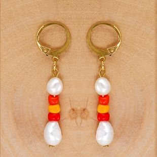 Pearls Baroque pearl earrings for women wholesale NHGW210664's discount tags