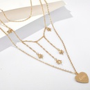 New fashion simple fivepointed star heartshaped lettering necklace set wild sweater chain wholesale NHGY210691