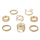 New fashion creative retro cross pattern joint ring 8 sets wholesale NHGY210693