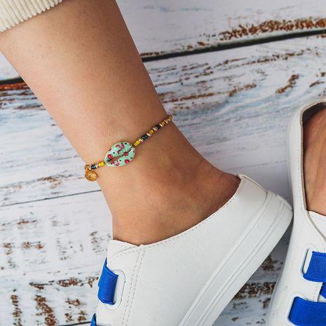 Nouvelle mode coloré multicolore perlé alliage shell coquille Saint-Jacques cheville pour les femmes en gros NHGY210698's discount tags