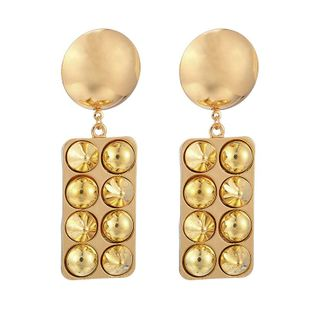 New fashion metal exaggerated punk style alloy round rivets earrings for women wholesale NHGY210701's discount tags