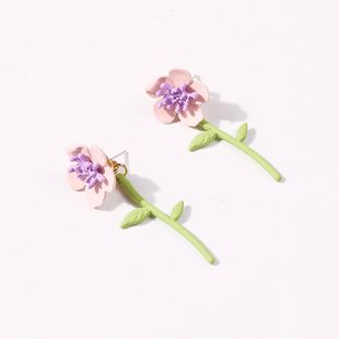 Korean new fashion sweet flower earrings for women wholesale NHMD210717's discount tags